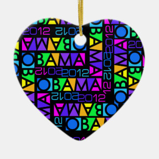 Colorful Obama 2012 ornament
