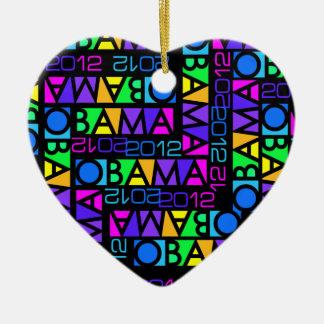 Colorful Obama 2012 ornament