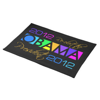 Colorful Obama 2012 placemat Cloth Place Mat