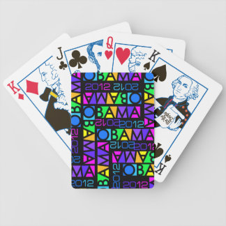 Colorful Obama 2012 playing cards