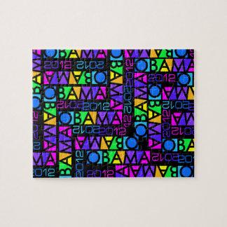 Colorful OBAMA 2012 puzzle