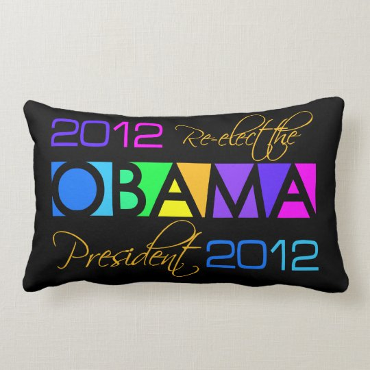 Colorful Obama 2012 throw pillow