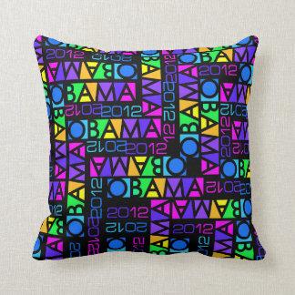 Colorful Obama 2012 throw pillow