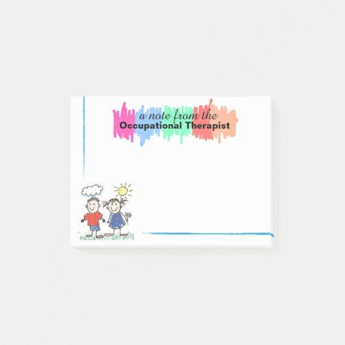 Colorful Occupational Therapist Sticky Notes