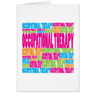 Colorful Occupational Therapy Card