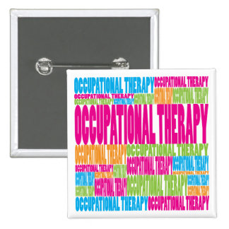 Colorful Occupational Therapy Pinback Button