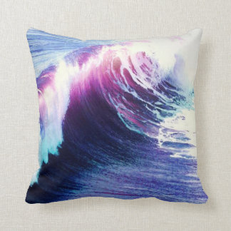 Colorful  Ocean Waves Pillow