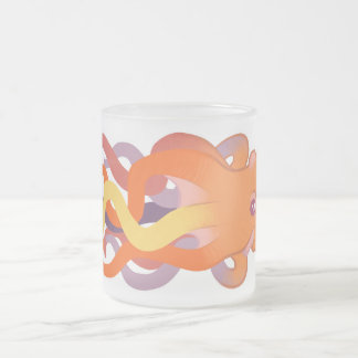 Colorful Octopus Frosted Glass Coffee Mug