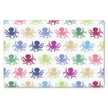Colorful octopus pattern tissue paper