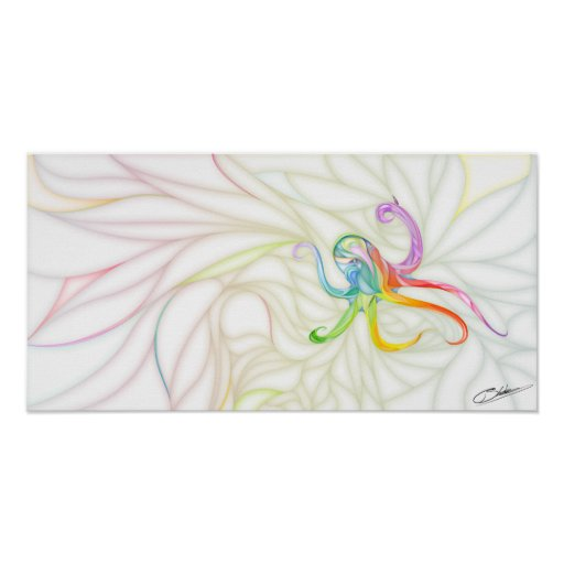 Colorful Octopus Poster