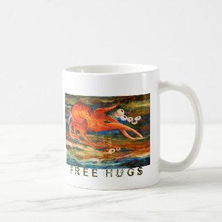 Colorful Octopus Scuba Diving Friendship Free Hugs Coffee Mug