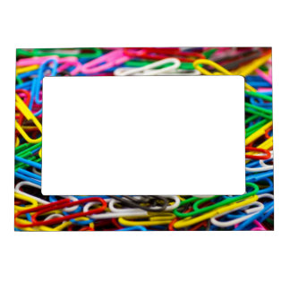 Colorful Office Paperclips Magnetic Photo Frame