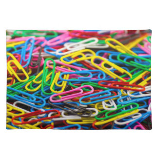 Colorful Office Paperclips Placemat