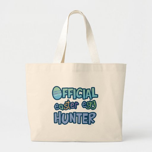 Colorful Official Easter Egg Hunter Canvas Bags