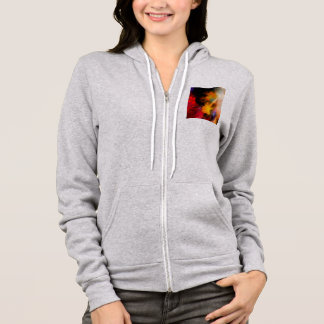 Colorful oil on canvas hoodie