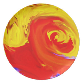 Colorful Oil Painting - Plate