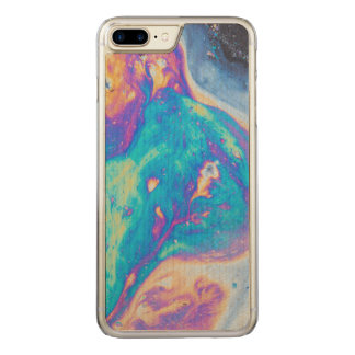 Colorful oil patterns, Canada Carved iPhone 7 Plus Case
