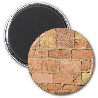 Colorful old brick wall design refrigerator magnet