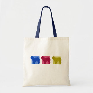 Colorful Old English Sheepdog Silhouettes Bag