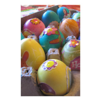 Colorful Old Fashioned Easter Egg Decorating Fun Stationery