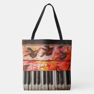 Colorful Old Piano Tote Bag
