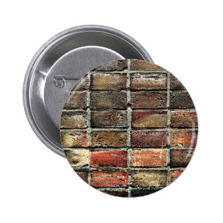 Colorful Old Weathered Stone Wall Texture Button