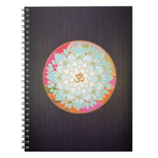 Colorful OM Lotus Yoga and Meditation Teacher Spiral Notebook