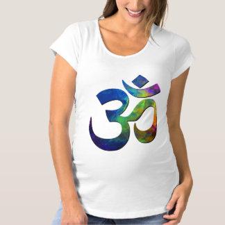 Colorful Om Yoga Symbols Maternity T-Shirt