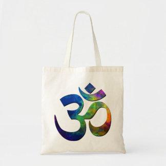 Colorful Om Yoga Symbols Tote Bag