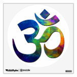 Colorful Om Yoga Symbols Wall Decal