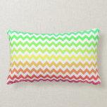 Colorful Ombre Chevron Throw Pillows