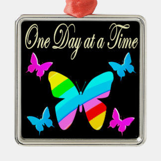 COLORFUL ONE DAY AT A TIME METAL ORNAMENT