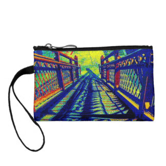 Colorful One Step At A Time Key Coin Clutch