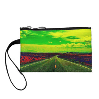 Colorful One Strange Journey Key Coin Clutch