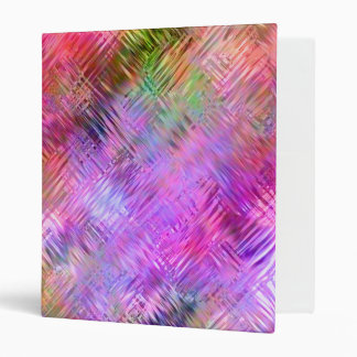 Colorful Opal Glassy Texture 3 Ring Binder