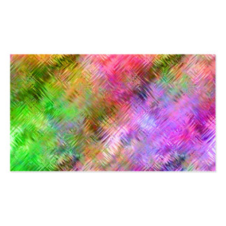 Colorful Opal Glassy Texture Business Card
