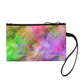 Colorful Opal Glassy Texture Coin Purse