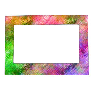 Colorful Opal Glassy Texture Magnetic Photo Frame