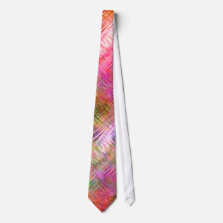 Colorful Opal Glassy Texture Neck Tie