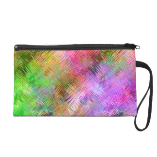 Colorful Opal Glassy Texture Wristlet