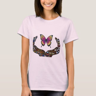 Colorful Open Hands and Butterfly T-Shirt