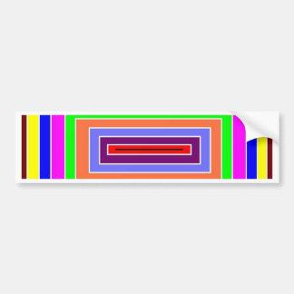 Colorful Optical Effect Bumper Sticker