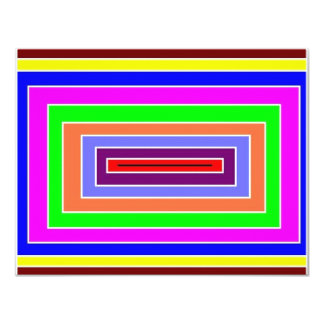 Colorful Optical Effect Card
