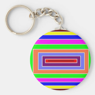 Colorful Optical Effect Keychain