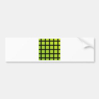 Colorful optical illusion bumper sticker