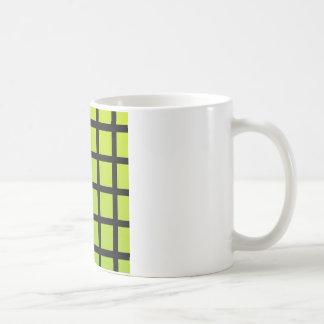 Colorful optical illusion coffee mug