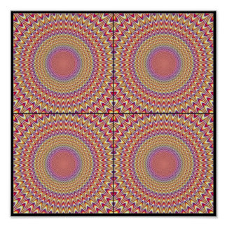 Colorful Optical Illusion - Eye Trick Poster