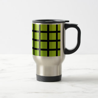 Colorful optical illusion travel mug