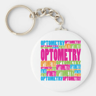 Colorful Optometry Basic Round Button Keychain