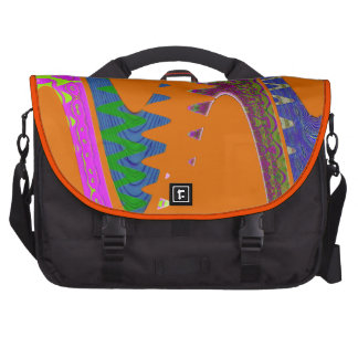 colorful orange abstract laptop commuter bag